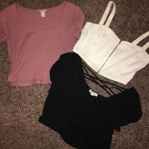 Cropped shirt bundle
